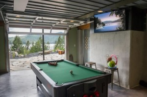 Garage Door Game Room